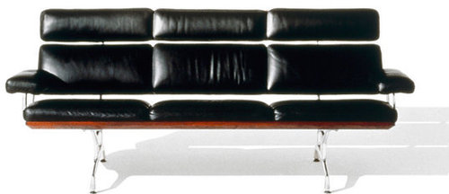 Eames® 3 Seat Sofa in HM Leather 9