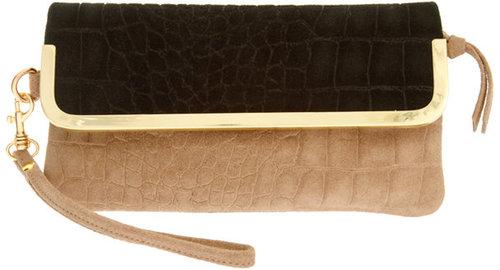 ASOS Leather Croc Bar Purse