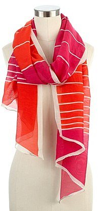 Sunset stripes scarf