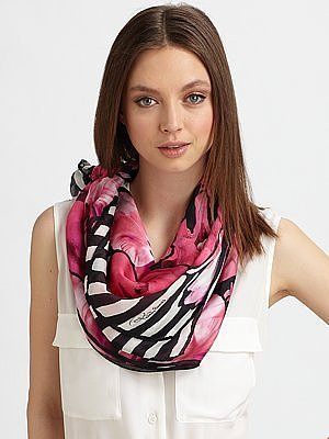 Floral Pop Silk Scarf