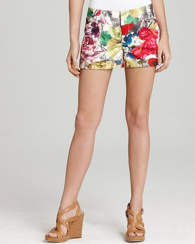 Alice + Olivia Shorts - Cady Floral Print Cuffed
