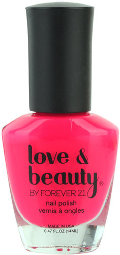 Love 21 Neon Pink Party Nail Polish
