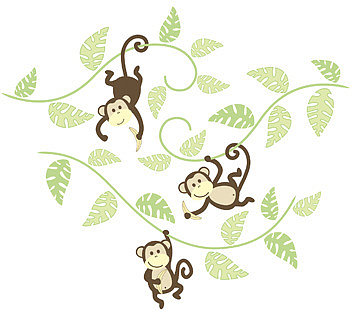 WallPops!® Monkeying Around Wall Art Kit