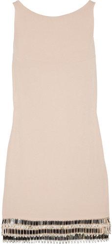 Azzaro Leeloo embellished open-back crepe mini dress