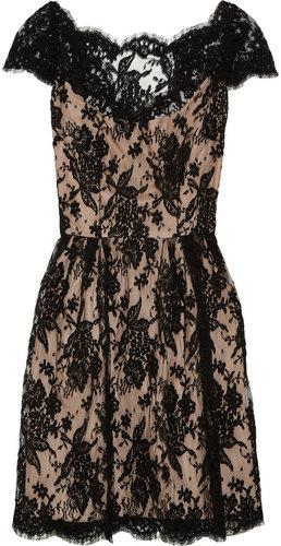 Issa Cotton-blend lace dress