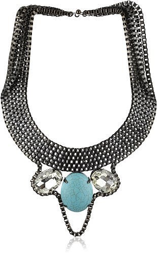 "Joanna Laura Constantine ""Tribal"" Turquoise Statement Necklace"