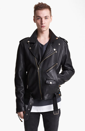BLK DNM 'Leather Jacket 5' Leather Moto Jacket