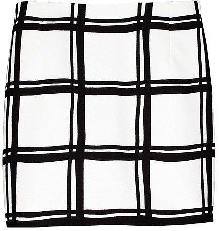 Checkered Border Mini Skirt