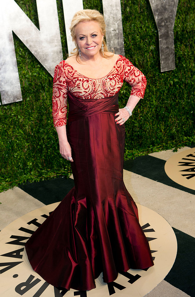 Jacki Weaver arrived at the Vanity Fair Oscar party.