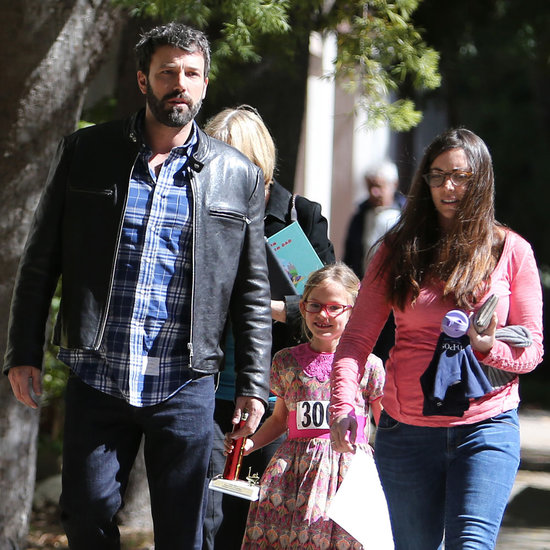 Ben Affleck Takes Violet to a Spelling Bee   Pictures
