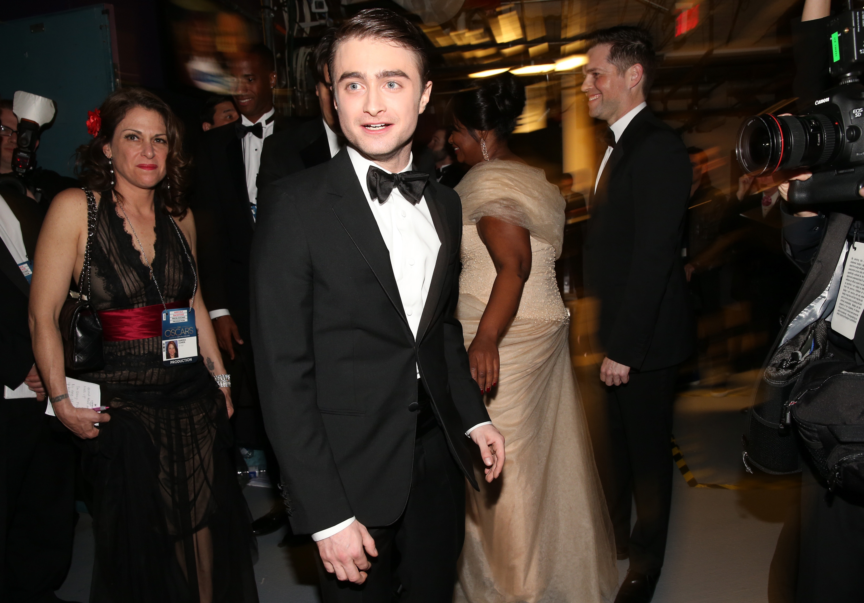 Daniel Radcliffe backstage at the 2013 Oscars.
