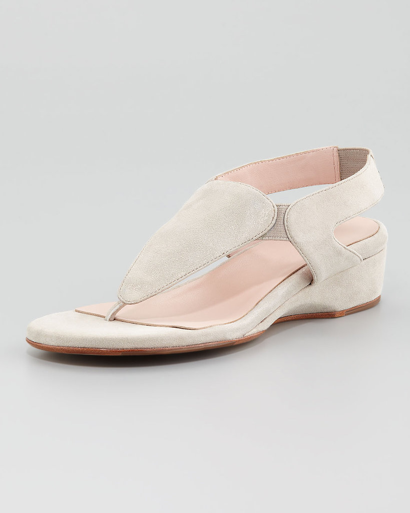 Taryn Rose Low-Wedge Thong Sandal