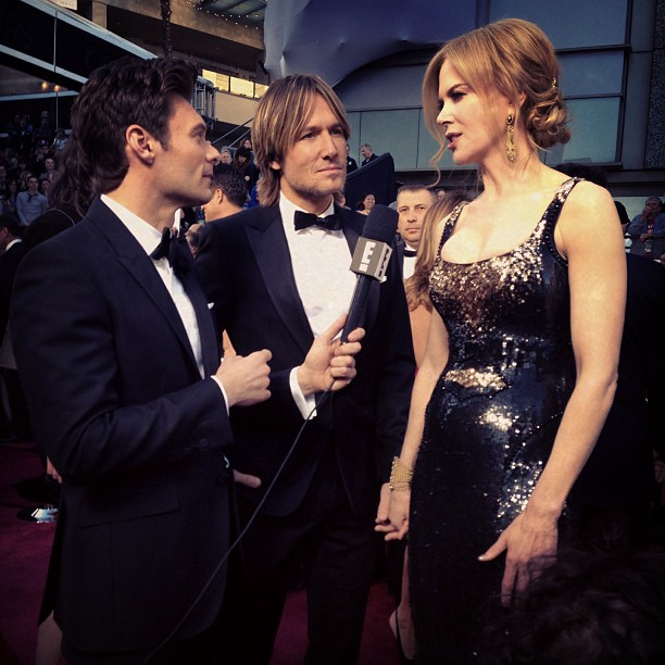 Nicole Kidman and Keith Urban did interviews together at the Oscars. Source: Instagram user ryanseacrest