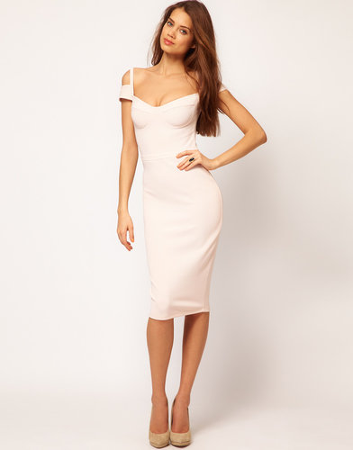 ASOS Sexy Pencil Dress With Sweetheart Neckline