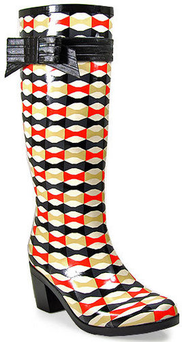Kate Spade - Randi Too - Multi Color Aztec Rain Boot With Bow