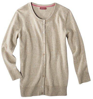 Merona® Women's Crewneck 3/4 Sleeve Cardigan Sweater -  Assorted Colors