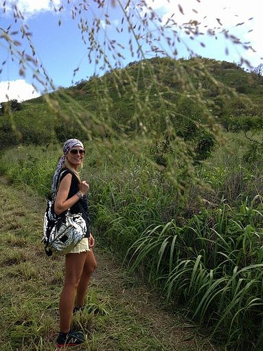 Heidi Klum went on a hiking adventure. Source: Twitter user heidiklum