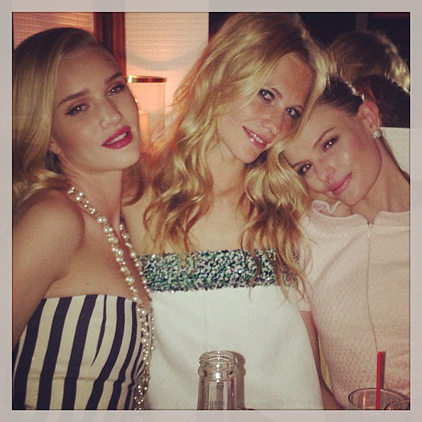 Poppy Delevingne partied with Kate Bosworth and Rosie Huntington-Whiteley at a Chanel event. Source: Instagram user poppydelevingne