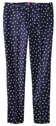 Merona® Women's Ankle Pant (Fit 2) - Black Dot Print