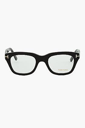 TOM FORD Black Thick Frame FT5178 Cat Eye Glasses