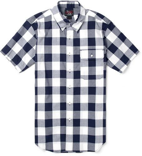 Woolrich Woolen Mills Buffalo-Check Short-Sleeved Cotton Shirt