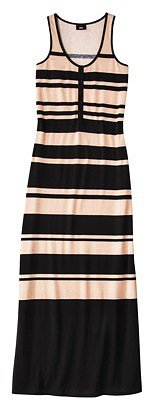 Mossimo® Women's Stripe Maxi Dress -Black/Blush