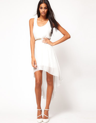 ASOS High Low Hem Dress with Belt