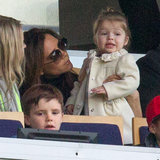 Pictures of Beckham Kids Watching David Play Soccer in Paris