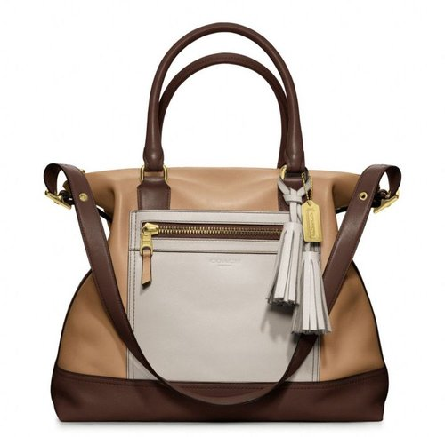 Legacy Colorblock Leather Rory Satchel