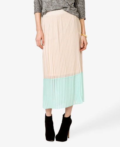 FOREVER 21 Pleated Maxi Skirt