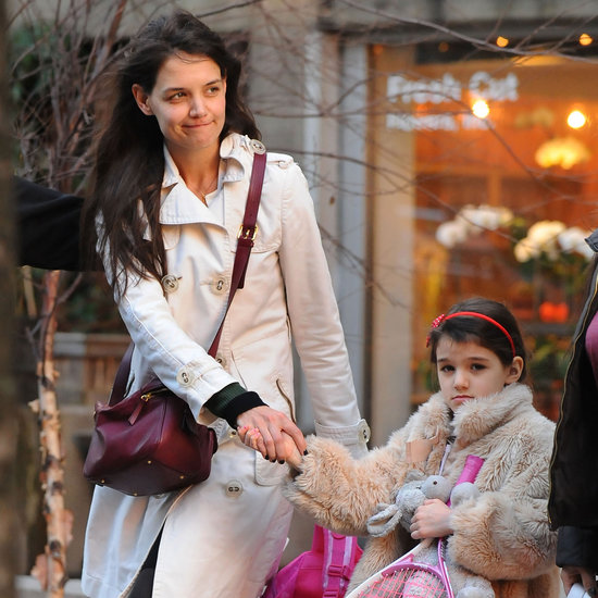 Katie Holmes and Suri Cruise at Tennis Lessons | Pictures