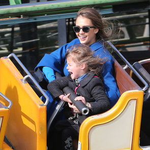 Jessica Alba and Honor Warren at Amusement Park in Paris
