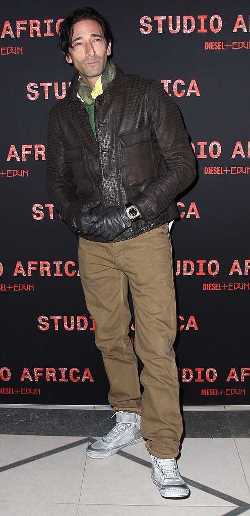 Adrien Brody attended a Diesel + Edun party for Paris Fashion Week in March.