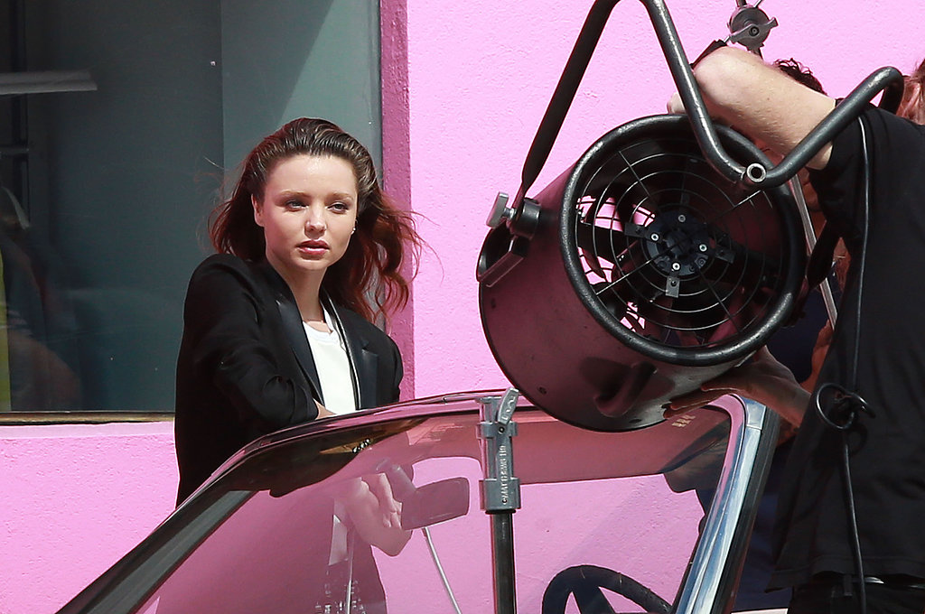Miranda Kerr worked her magic for the camera on Sunday.