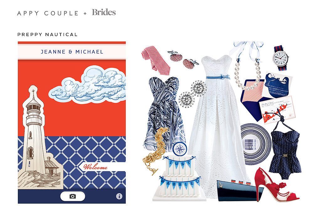 Preppy Nautical ($28) brings the casual Summer style of seaside East Coast locales to your big day. Source: Appy Couple