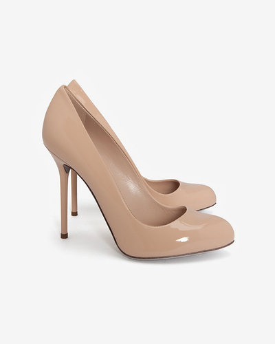 Sergio Rossi Kalika Patent Leather Pumps: Nude