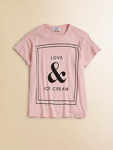 Wildfox Kids Girl's Love & Ice Cream Tee