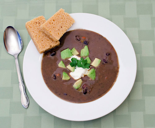 Quick Vegetarian Black Bean Soup