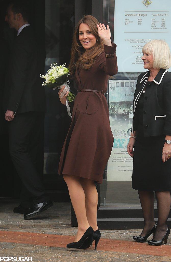 Kate Middleton wore L.K. Bennett shoes.