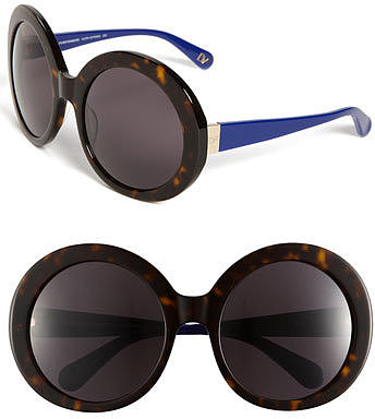 Diane von Furstenberg 'Gloria' Oversized Round Sunglasses