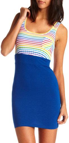 Rainbow Stripe 2-Fer Dress