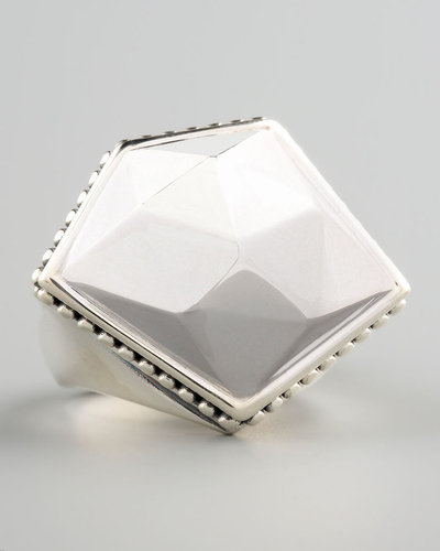 Lagos Silver Rocks Angled Ring