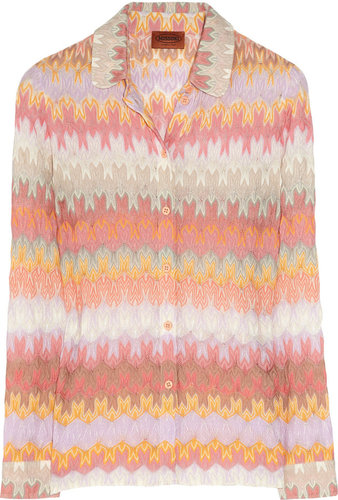 Missoni Brigida cotton-blend crochet-knit shirt