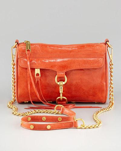 Rebecca Minkoff Mini MAC Chain-Strap Bag, Coral