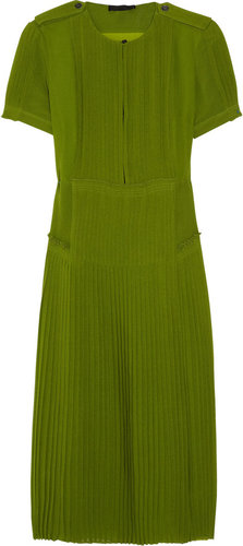 Burberry Prorsum Silk-georgette dress