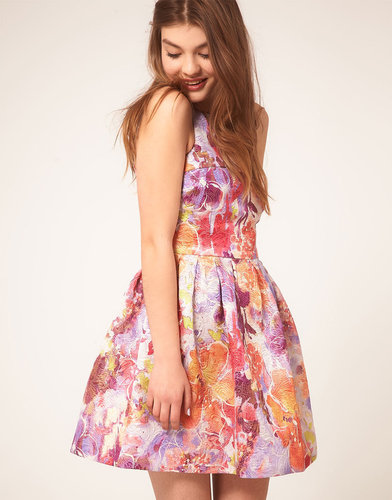 ASOS Lantern Dress in Darling Buds Print