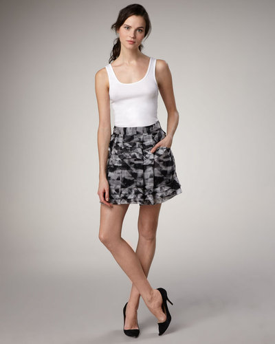 Theory Cube-Plaid Skirt