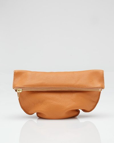 Medium Leather Pouch Apricot