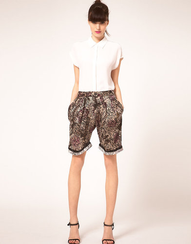 Preen Line Shorts Floral & Animal Print
