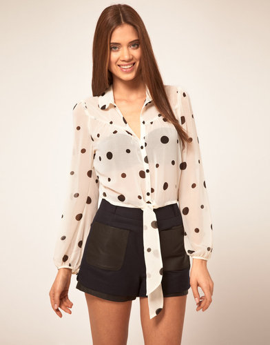 Lipsy Polka Dot Shirt